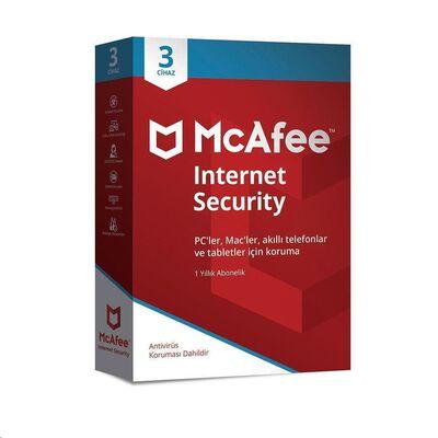 McAfee Internet Security 3 Cihaz Windows, MacOS, iOS ve Android